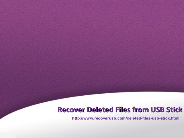 how to recover cut files from usb