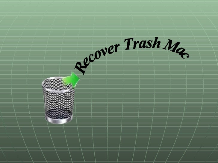 Recover Trash Mac