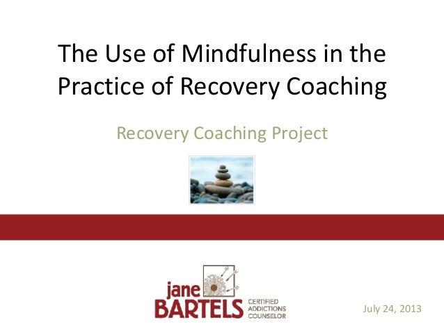 Recovery Through Balance