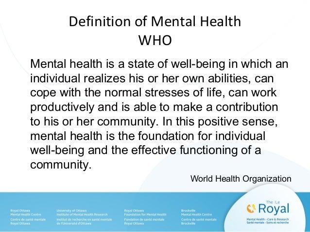 mental health who