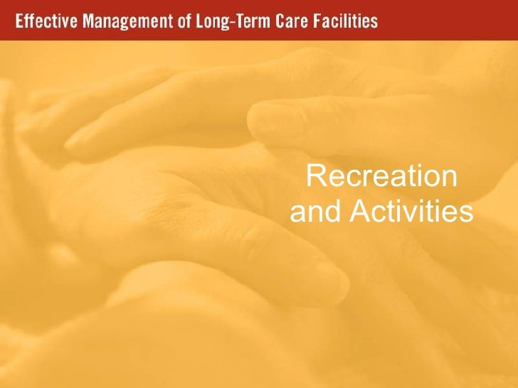 Recreation and Activities