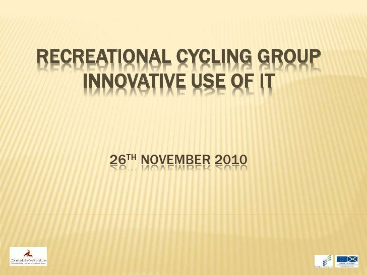 WTI - Recreational cycling and social media workshop slides