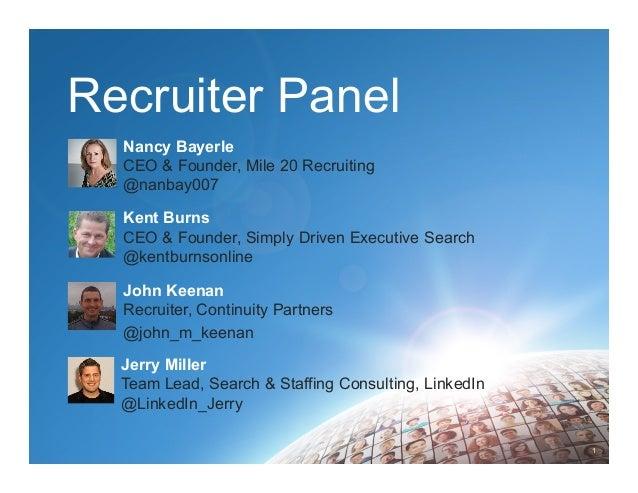 Recruiter Panel