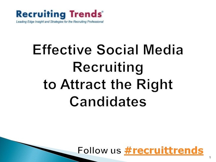 Effective Social Media Recruiting to Attract the Right Candidates