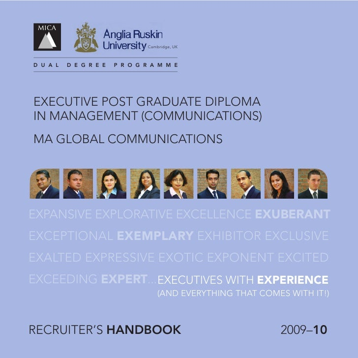 Recruiters Handbook for PGPCMX (2009 -10) - MICA