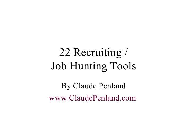 Recruiting Job Hunting Recruitment Tools