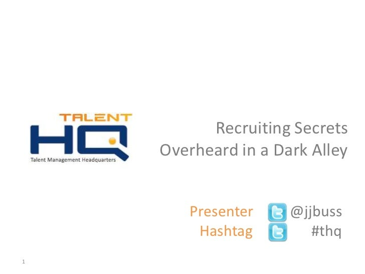 Recruiting headlines and social recruiting