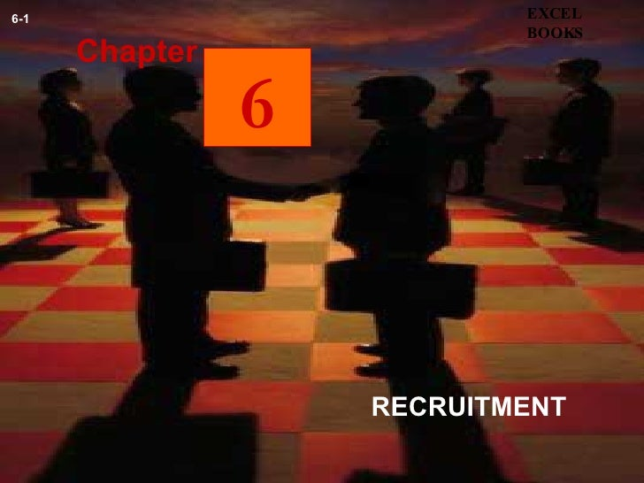 RECRUITMENT  Chapter EXCEL BOOKS 6-1 6