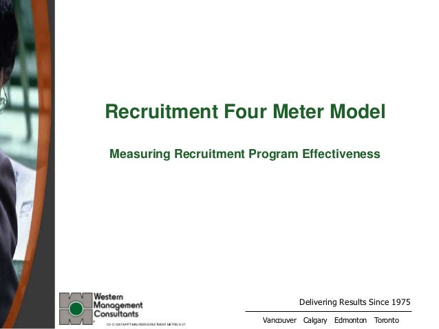 Delivering Results Since 1975 Vancouver Calgary Edmonton Toronto Recruitment Four Meter Model Measuring Recruitment Progra...