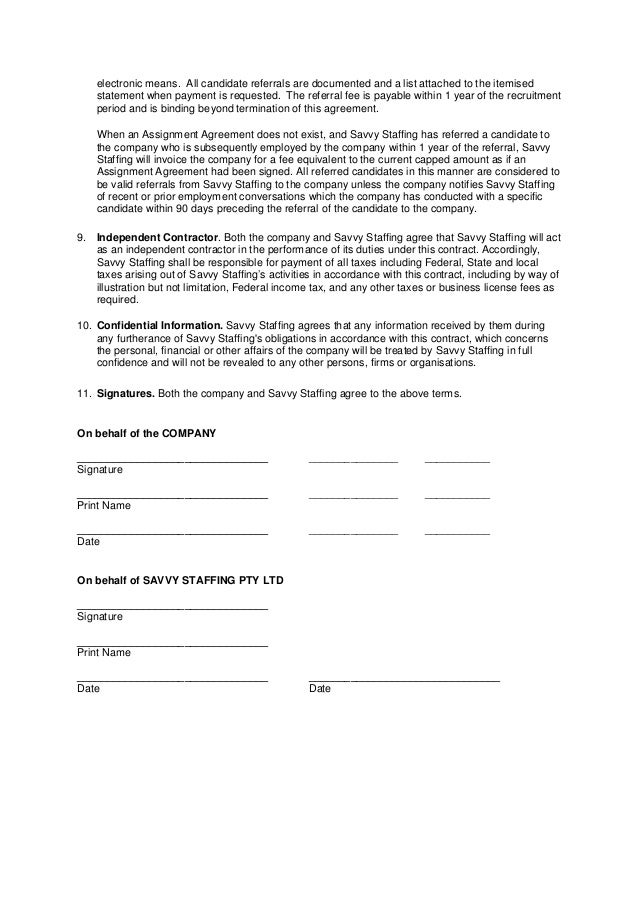 Business Referral Fee Agreement - Free Printable Documents