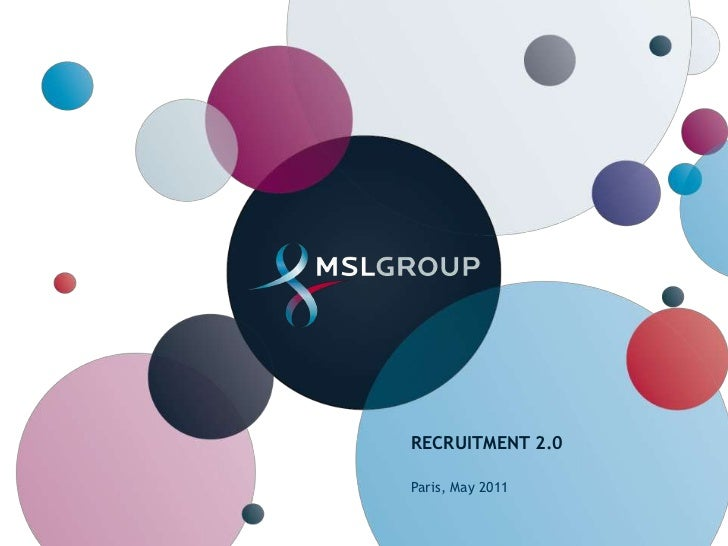 Recruitment 2.0<br />Paris, May 2011<br />