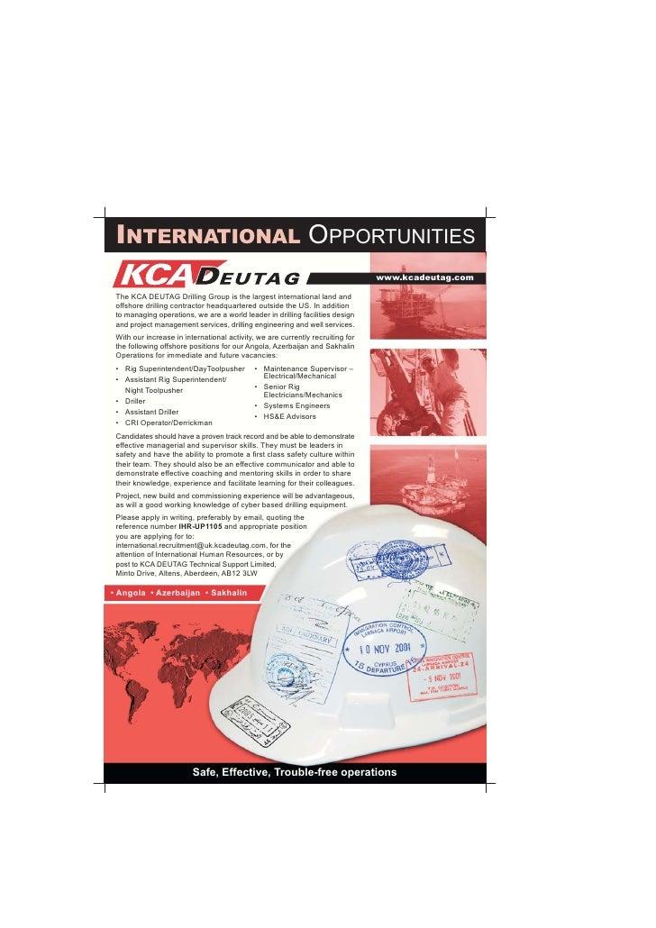 Recruitment Advert International Opps Upstream