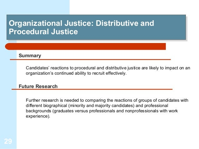 explore the benefits of procedural justice