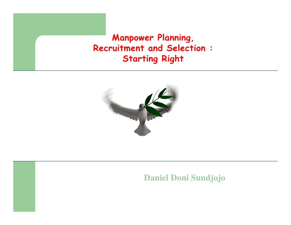 Recruitment and selection by daniel doni sundjojo