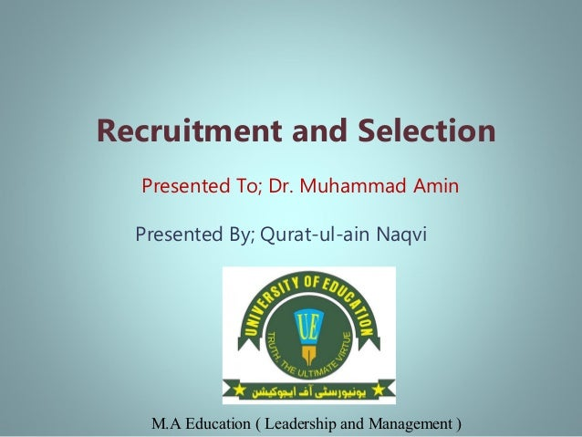 mba thesis on recruitment and selection
