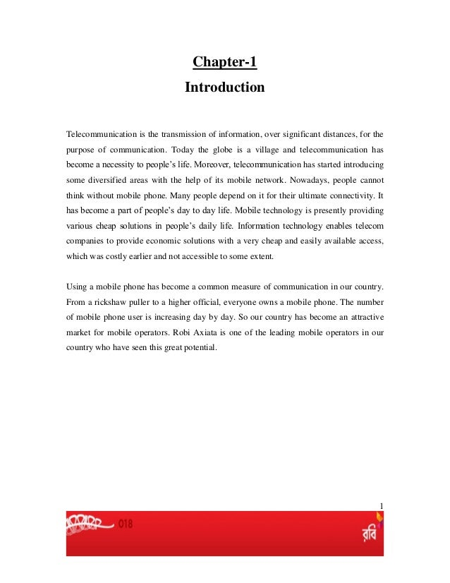 1 Chapter-1 Introduction Telecommunication is the transmission of information, over significant distances, for the purpose...
