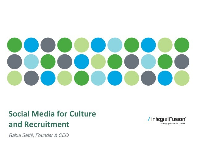 Culture Brand Talent Social Media for Culture and Recruitment Rahul Sethi, Founder & CEO