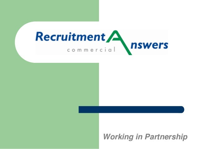 Recruitment Answers Commercial Presentation
