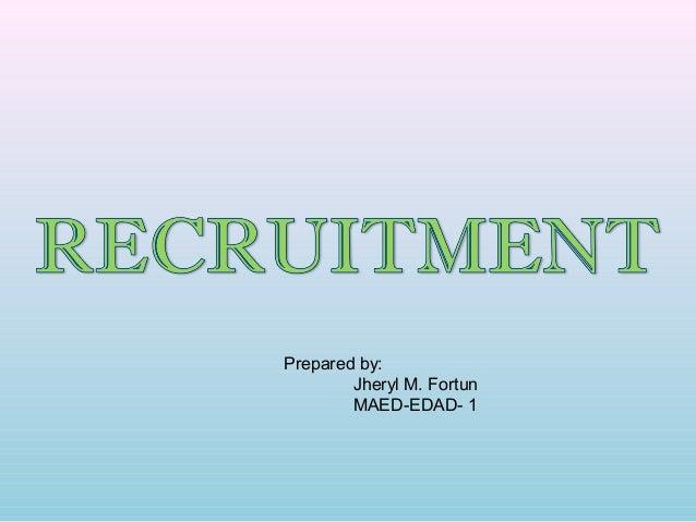 Prepared by:        Jheryl M. Fortun        MAED-EDAD- 1