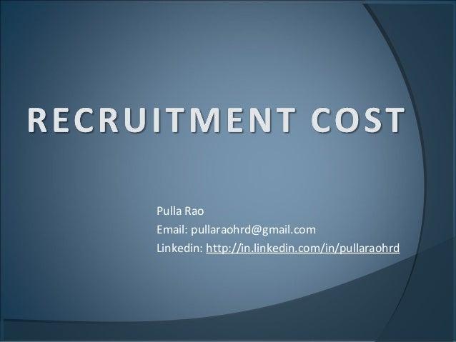 Recruitment costs