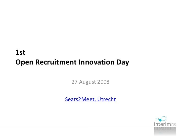 Open Recruitment Innovation Day