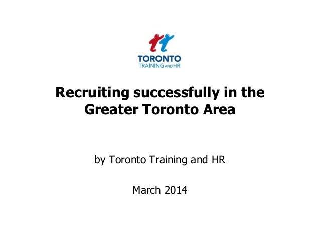 Recruitment March 2014