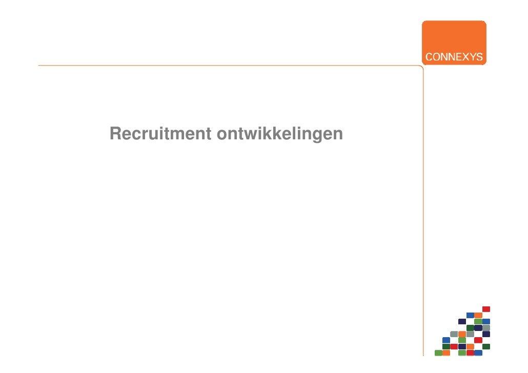 Recruitment ontwikkelingen