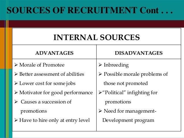 ten different sources of applicants that organizations turn to when recruiting Recruitment and selection process before an organization activity begins recruiting applicants these in turn help the organization to retain their employees and attract best talents from the market to overcome manpower deficiencies faced from time to time.