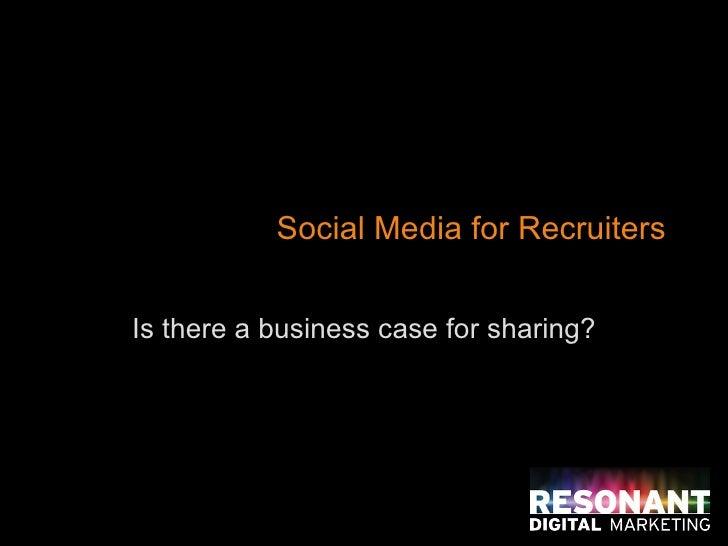 Recruitment social media options