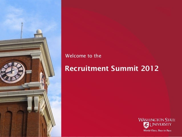 Welcome to theRecruitment Summit 2012