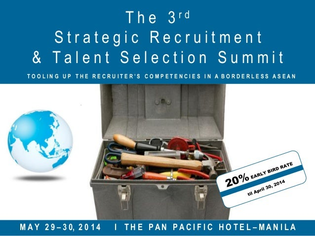The 3rd Strategic Recruitment & Talent Selection Summit