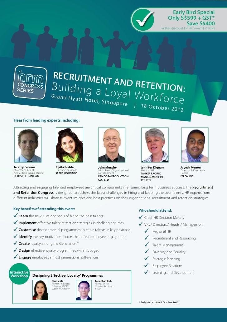 Recruitment and Retention Congress 2012