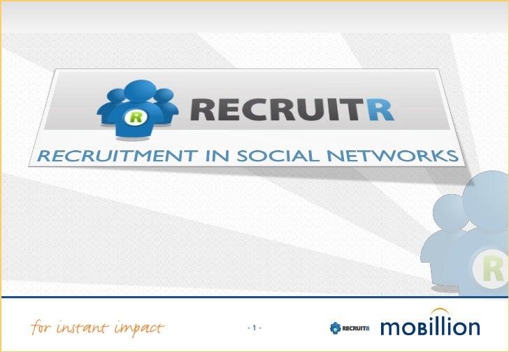 Recruitr Presentatie