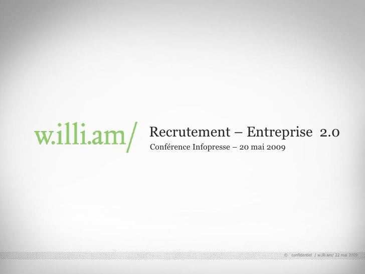 Recrutement - Entreprise 2.0 - by Matyas Gabor, w.illi.am/