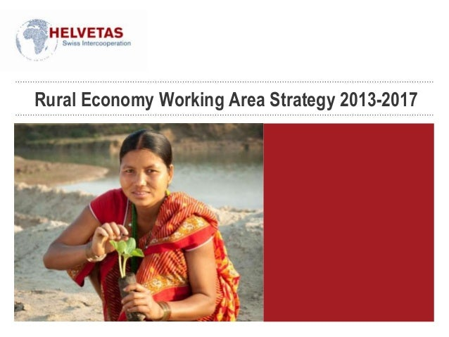 Rural Economy Working Area Strategy 2013-2017