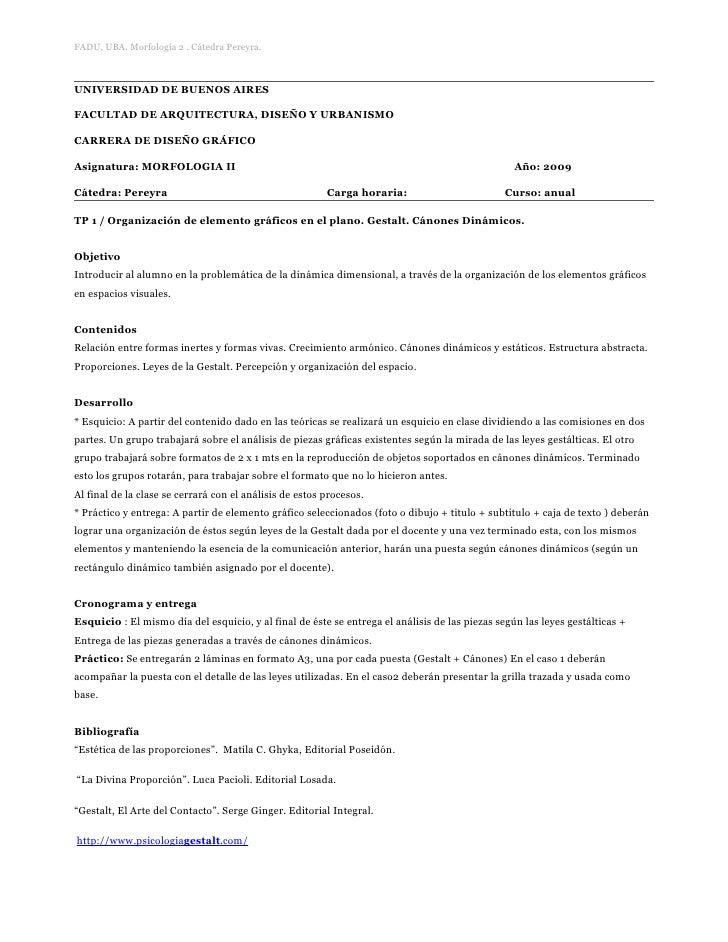 FADU, UBA. Morfología 2 . Cátedra Pereyra.    UNIVERSIDAD DE BUENOS AIRES  FACULTAD DE ARQUITECTURA, DISEÑO Y URBANISMO  C...