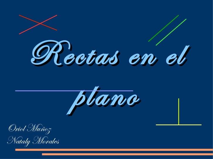Rectas en el plano Oriol Muñoz Nataly Morales