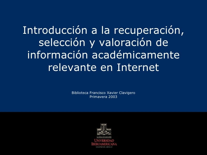 Recuperacion de la informacion en Internet