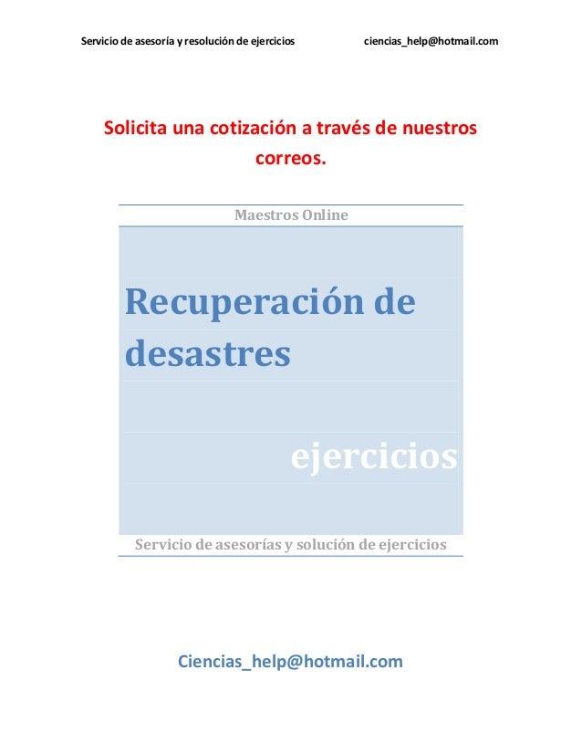 Recuperación de desastres cb09104 2014
