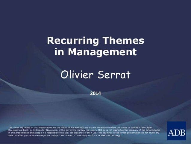 Recurring Themes in Management