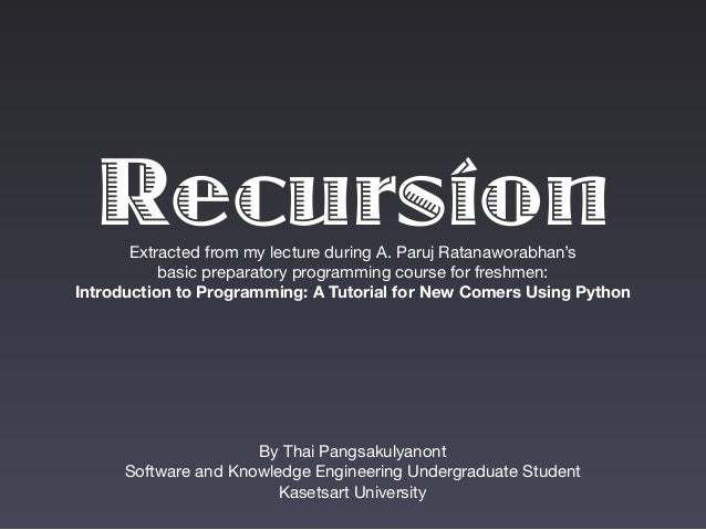 Introduction to Recursion (Python)