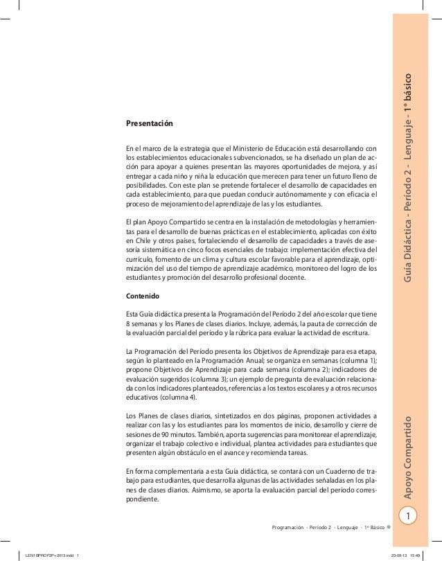 1 GuíaDidáctica-Período2-Lenguaje-1°básicoApoyoCompartido Programación - Período 2 - Lenguaje - 1º Básico Presentación En ...