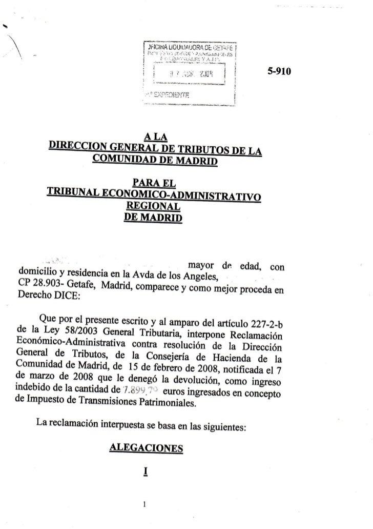 "/""~Direcdón111 ~ONSEJERIA  General de Tribut.,.                    DE HACIENDA                                            ..."