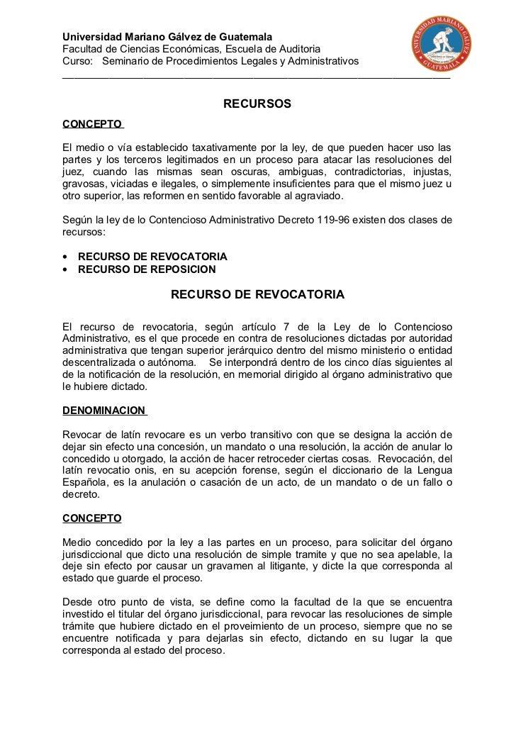 Universidad Mariano Gálvez de GuatemalaFacultad de Ciencias Económicas, Escuela de AuditoriaCurso: Seminario de Procedimie...