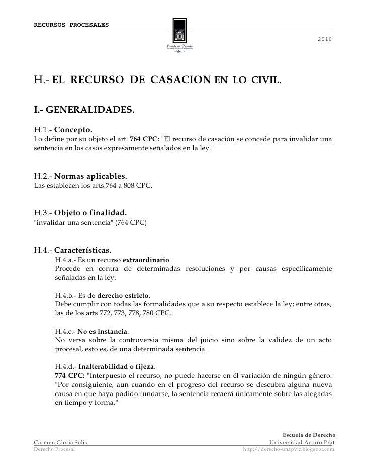 RECURSOS PROCESALES                                                                                                 2010  ...