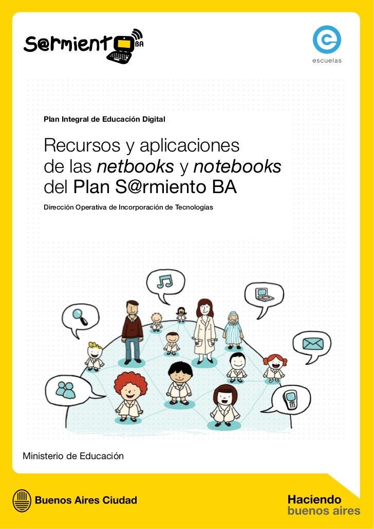 Recursos de las Netbooks y Notebooks del Plan Sarmiento