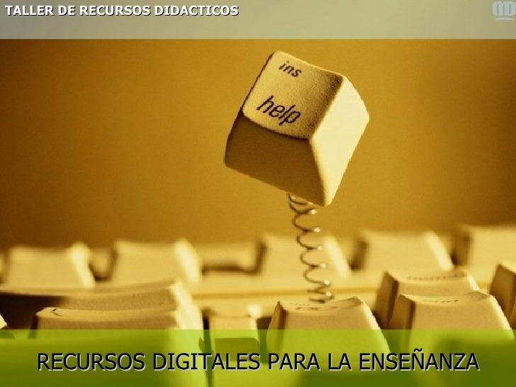 clasificacion de recursos digitales