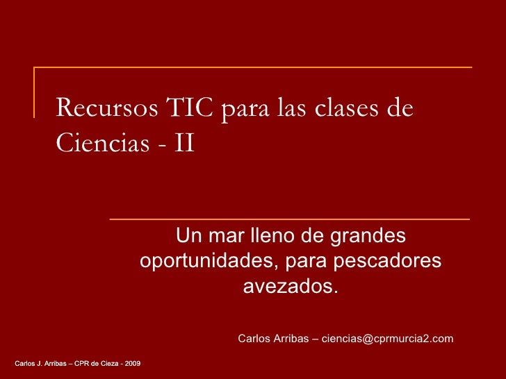 Recursos TIC para las clases de Ciencias - II