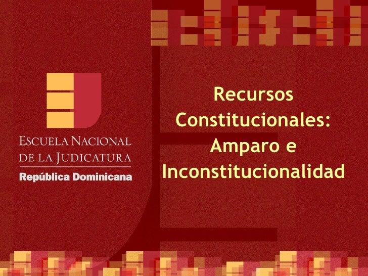 Recursos Constitucionales: Amparo e Inconstitucionalidad