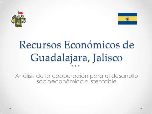 Recursos Económicos de Guadalajara, Jalisco Análisis de la cooperación para el desarrollo socioeconómico sustentable
